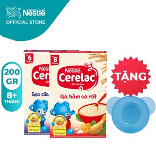 [Tặng chén ăn dặm]Combo 2 hộp Bột Ăn Dặm Nestlé Cerelac Gạo sữa và Gà hầm 200g hộp thumbnail