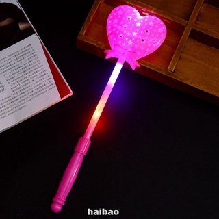 Luminous Magic Stick Flashing Heart Led Multi Color Novelty Party Princess Wand Scepter Toy