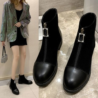 Girls boots fashion trend net red flat shoes girls outdoor boots shoes