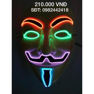 Mặt nạ hacker anonymous đèn phát sáng-t76 _hàng bao đẹp mã sp PX4967