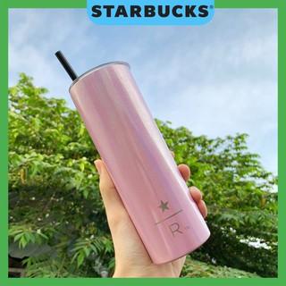 [ĐỘC QUYỀN] Ly cốc giữ nhiệt Starbucks chính hãng hồng 590ml ánh kim tuyến