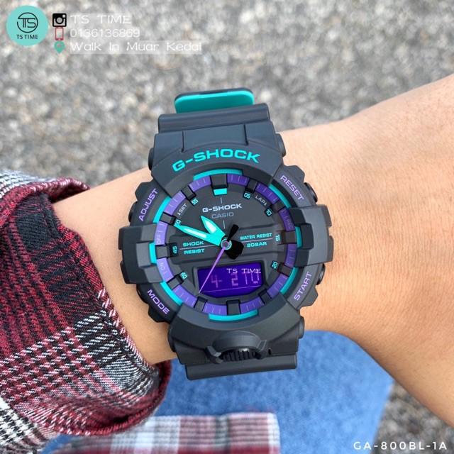 Đồng hồ nam Casio G Shock GA-100BL-1ADR Dây Nhựa Hai Màu - Chống Nước 200m- bảo hàn