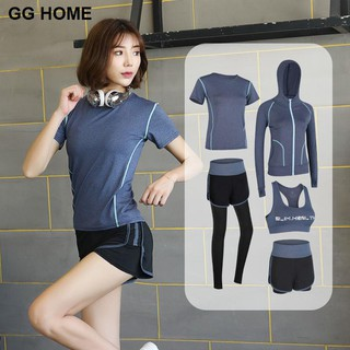 Yoga clothing sports suit female spring and autumn new gym net red running morning professional quick-drying fitness