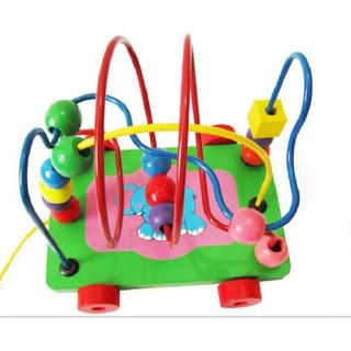 [HOT]Đồ chơi xe kéo luồn hạt bằng gỗ an toàn cho bé – Toca Toys