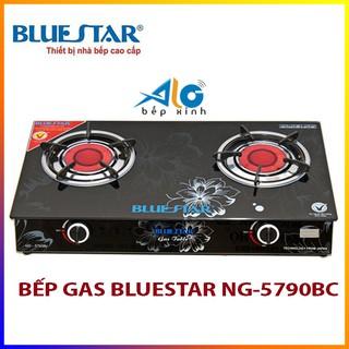 [Mã ELMS5 giảm 7% đơn 300K] Bếp gas hồng ngoại Bluestar NG-5790BC - 2 vòng lửa - có đầu hâm - Alo Bếp xinh