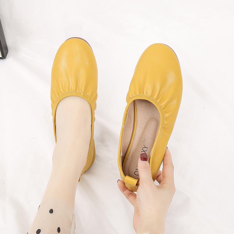 Giày Búp Bê Đế Bằng 5 Màu Cho Nữ