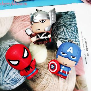 ❥Cherry Avengers Silicone Doll Super Hero cartoon Squishy by Slow Rising for Pereda Stress Creative Q Version Toys