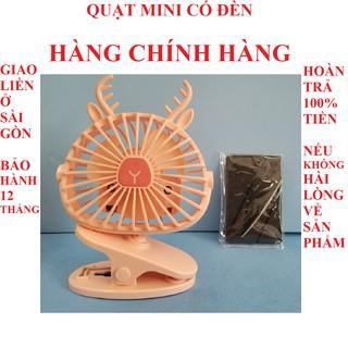Quạt mini cầm tay quạt mini để bàn quạt usb quạt mini hươu có đèn chính hãng mini fan bảo hành 12 tháng