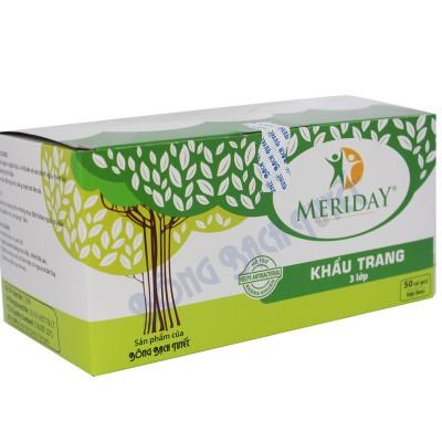 Khẩu trang xanh 3 lớp Meriday - 2502095 , 606749861 , 322_606749861 , 11500 , Khau-trang-xanh-3-lop-Meriday-322_606749861 , shopee.vn , Khẩu trang xanh 3 lớp Meriday