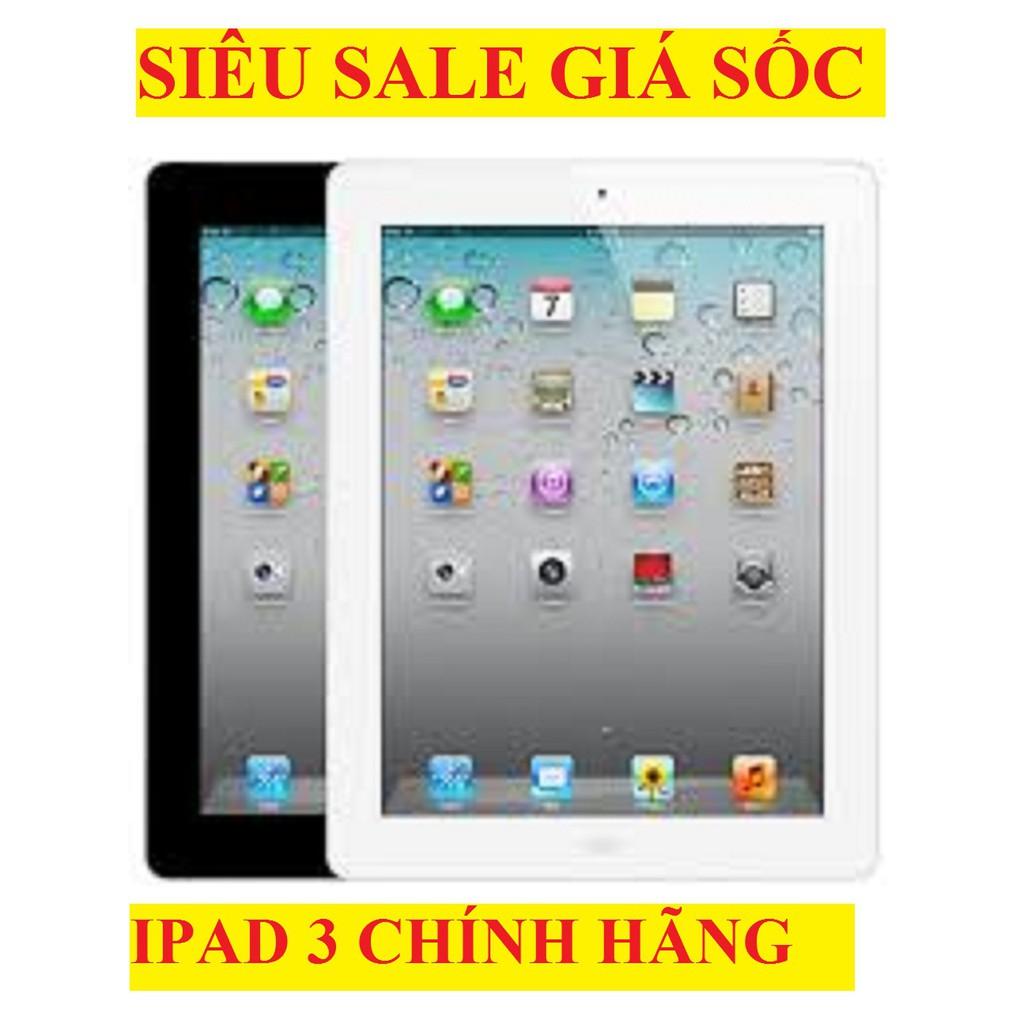 Máy tính bảng Ipad 3 32G bản 4G/wifi CHÍNH HÃNG, màn hình 9.7inch, Full Zalo Tiktok Youtube