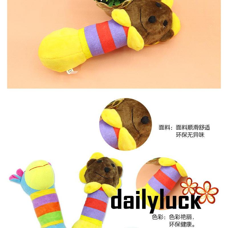 .IK-Cute Pet Dog Puppy Chew Squeak Plush Toy Small Dogs Play Toy Giraffe Design Toys