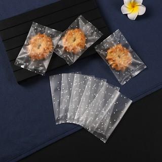 (NHỎ | 5.5*8.5cm) Túi Bánh Quy Cán Mờ Chấm Bi (100c)