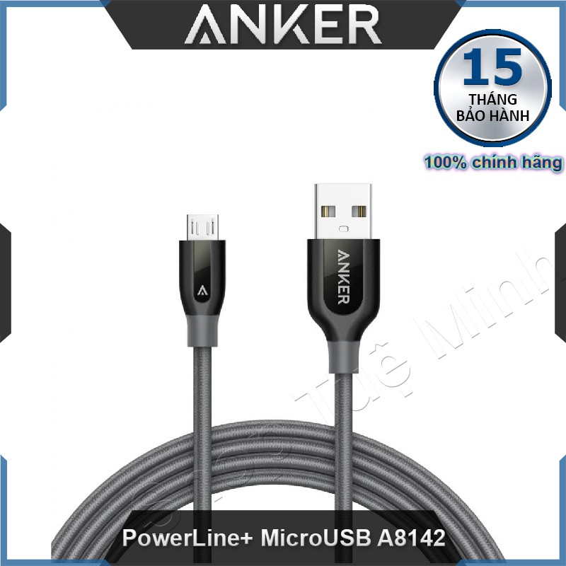 Cable Anker PowerLine+ MicroUSB 3ft 0.9m A8142 - Hàng phân phối chính hãng - 3169168 , 973627714 , 322_973627714 , 210000 , Cable-Anker-PowerLine-MicroUSB-3ft-0.9m-A8142-Hang-phan-phoi-chinh-hang-322_973627714 , shopee.vn , Cable Anker PowerLine+ MicroUSB 3ft 0.9m A8142 - Hàng phân phối chính hãng
