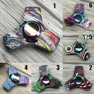 Colorful EDC Tri Fidget Hand Spinner Torqbar Focus AD Autism Finger Toy