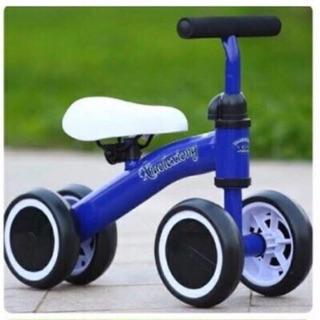 Xe chòi chân 4 bánh màu xanh cho bé