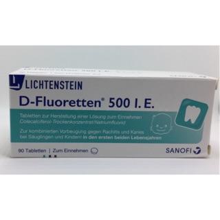 VITAMIN D FLUORETTEN 500 I.E chống còi xương cho trẻ sơ sinh (MẪU MỚI NHẤT, MÃ PZN 01610137)