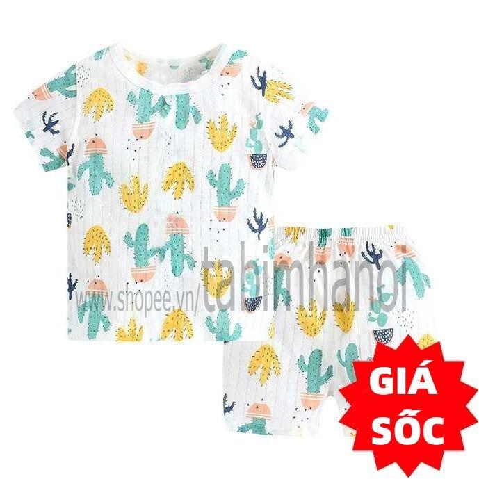 Bộ quần áo trẻ em cotton giấy QATE240 cho bé sơ sinh đến 16kg
