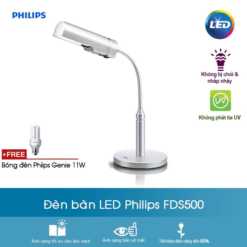 Đèn bàn học chống cận Philips FDS500 - Xám Bạc