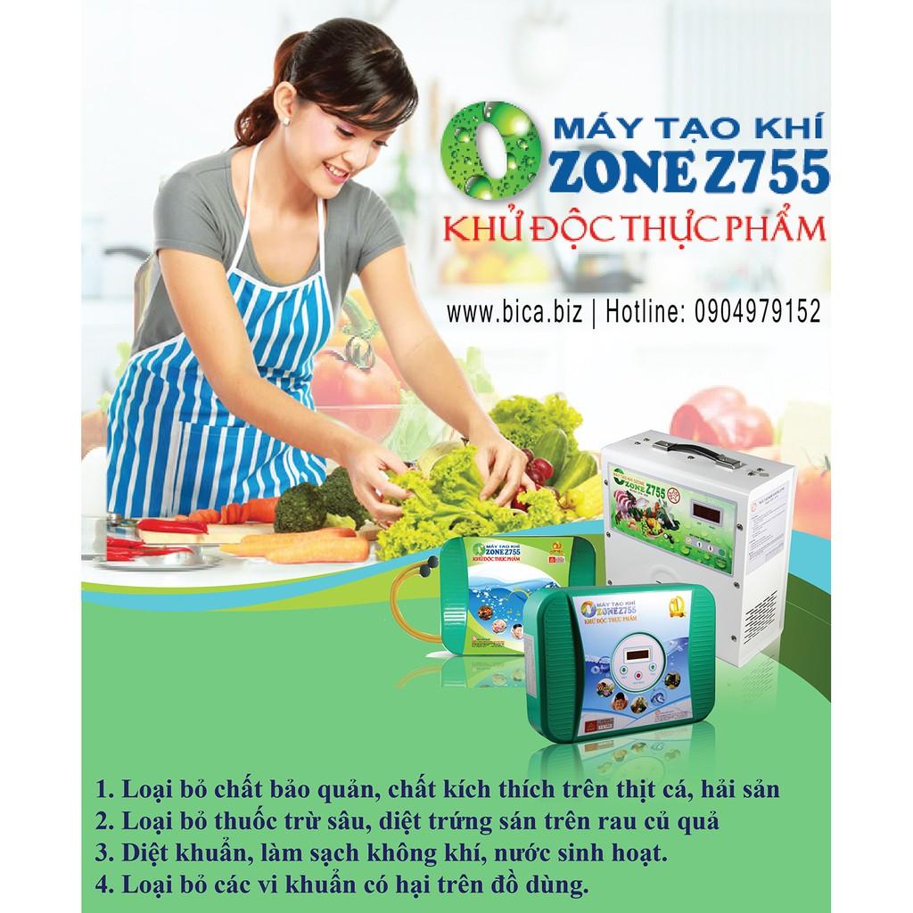 MÁY TẠO KHÍ OZONE Z755 2 VÒI - Khử độc thực phẩm