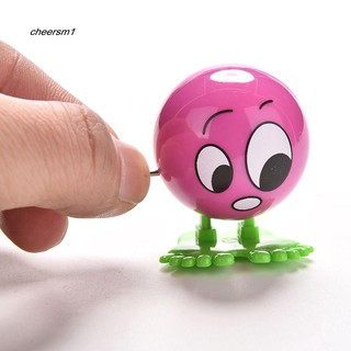 CHE❣1Pc Wind up Face Expressions Ball Funny Cartoon Somersault Running Clockwork Toy