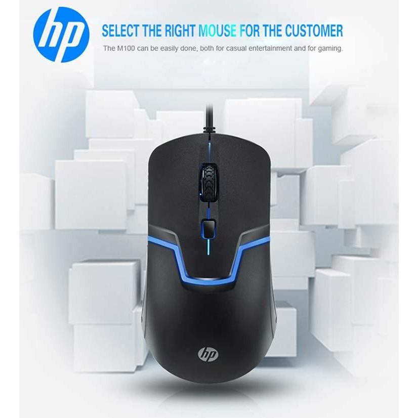 Chuột game HP M100 led nhiều màu rất đầm tay