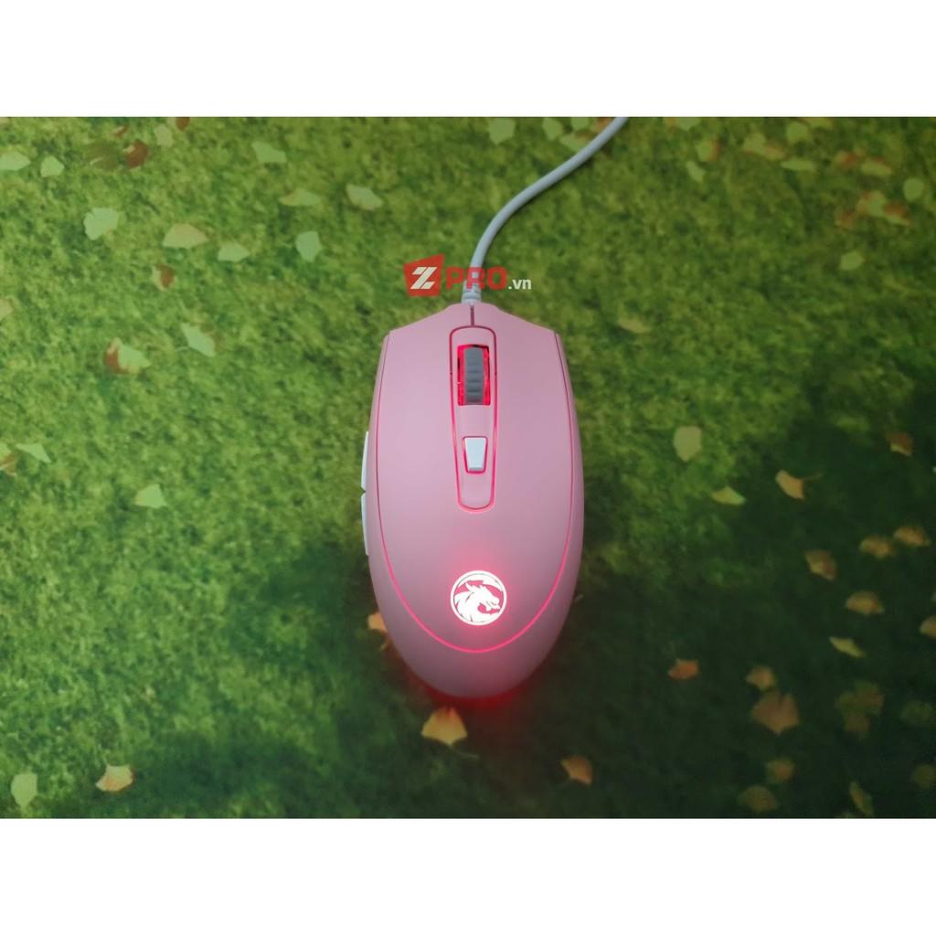 [Mã 267ELSALE hoàn 7% đơn 300K] Chuột Edra EM614 RGB Pink