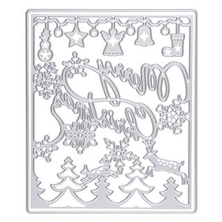 Merry Christmas Cutting Dies Scrapbooking/photo album Decor