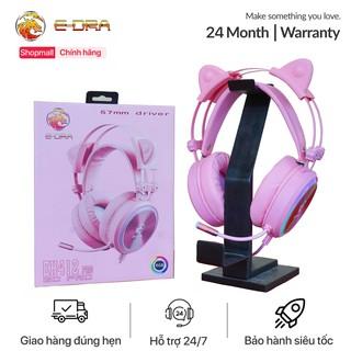 Tai Nghe Gaming E-DRA EH412 – Cổng USB – Led RGB- Phiên Bản Màu Hồng Cực Đẹp – Âm Thanh 7.1 – Bảo Hành 1 năm