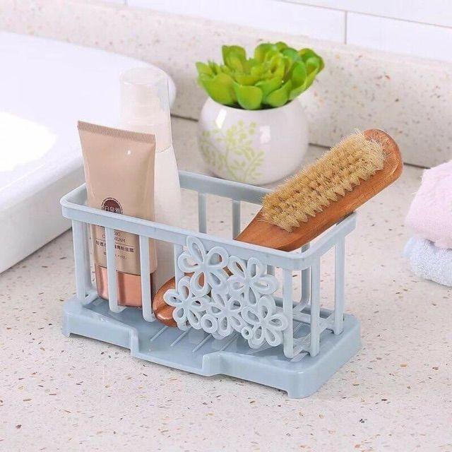 Khay đựng đồ rửa bát,đồ dùng nhà tắm có thoát nước làm bằng nhựa