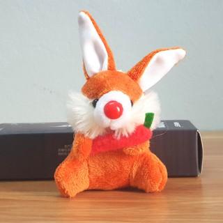 Có ảnh thật- Móc Khóa Bông Con Thỏ Màu Cam Đáng Yêu TreO Balo Túi Xách HA69 thumbnail