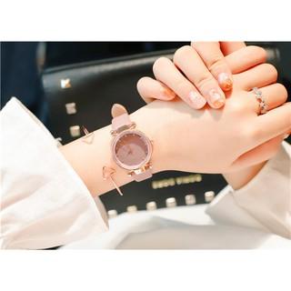 [NEW ] Đồng hồ nữ Doukou 3422 hàng chính hãng dây da mặt sao trời