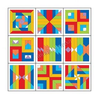Đồ chơi gỗ – Bộ xếp hình đa năng Geomix – Winwintoys 60152