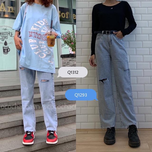 [Mã WACCBLT hoàn 20% xu đơn 99k] #Q1312CS & #Q1293CS quần jeans suông