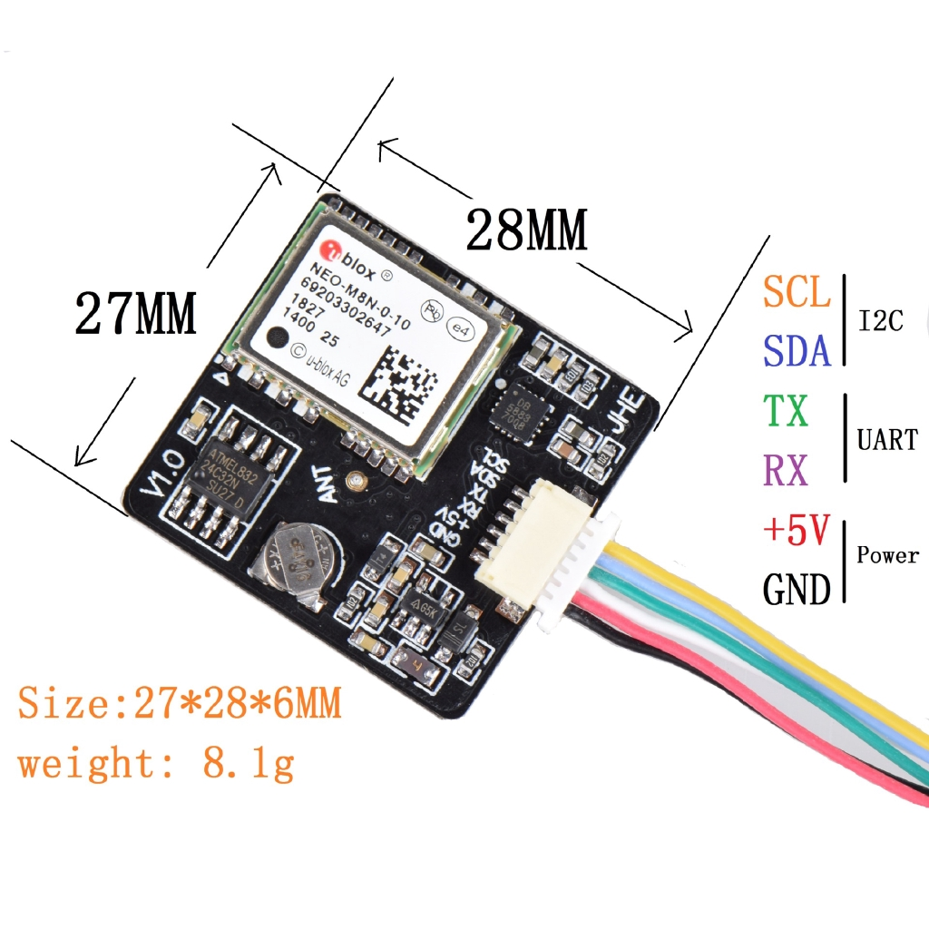 Ublox M8N GPS Integrated QMC5883 Compass for F3 F4 F7 INAV Flight Controller Board for FPV RC Drone