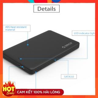 Hộp đựng ổ cứng Laptop, SSD 2.5 HDD Box Orico 2577U3 USB 3.0 đen