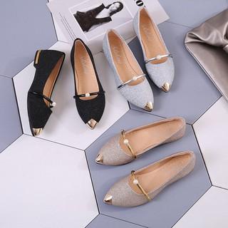 Giày búp bê mũi nhọn phong cách công sở thanh lịch cho nữ
