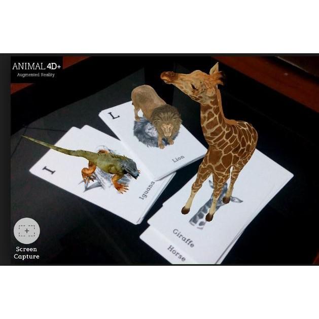 [ 31 THẺ GIẤY CỨNG PHỦ BÓNG BỀN ĐẸP ]Thẻ Animal 4D+ , thẻ động vật thực tế ảo 4D...