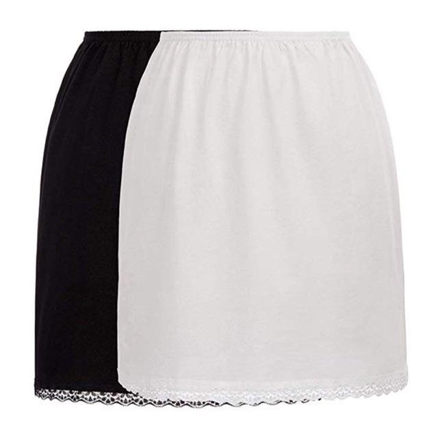 Lót váy vải thun 4 chiều chiều dài 50cm - 60cm free size dưới 65kg