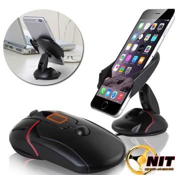 Kẹp điện thoại hình chuột gấp gọn gắn taplo kính xe hơi ô tô bàn làm việc