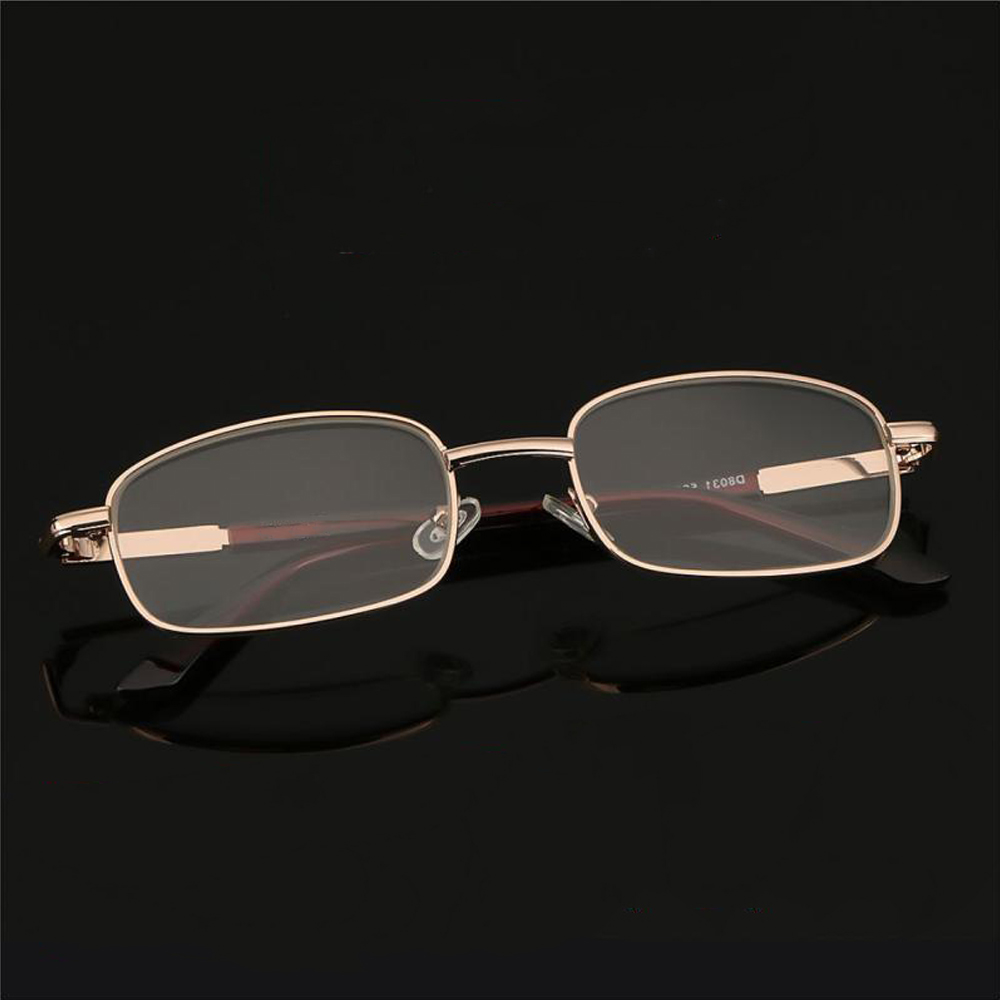 MOILY Vision Care Reading Glasses High-definition PC Frames Presbyopic Glasses Portable Metal Unisex Eyewear Eyeglasses