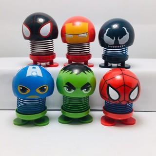 Combo 5 Emoji thú nhún lò xo siêu nhân anh hùng Marvel_duchau