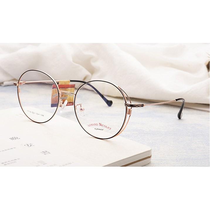Gọng kính kim loại phong cách retro 17118