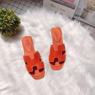 Xưởng sỉ Dép H da lì hot trend hàng đẹp da mềm êm chân thumbnail