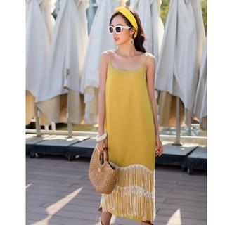 [Mã FAMALLT5 giảm 15% đơn 150k] Đầm vàng 2D dây thiết kế Elise thumbnail