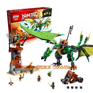 Bộ Lego Lắp Ráp Ninjago Robot Rồng. Gồm 618 Chi Tiết. Lego Xếp Hình Đồ Chơi Cho Bé