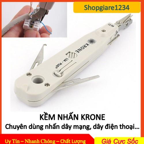 KỀM KRONE (Trắng) Chuyên Dùng Nhấn Dây Mạng, Dây Điện Thoại- Tool nhấn mạng cao cấp. Kềm Nhấn Krone
