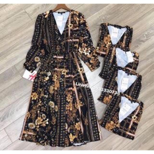 Váy zara hoạ tiết