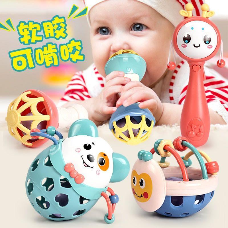 ♀✈♝Đồ chơi trẻ em 0-1 tuổi que thử mọc răng cho trẻ sơ sinh Trẻ sơ sinh 3-6-12 tháng tuổi bé trai và bé gái Rattle