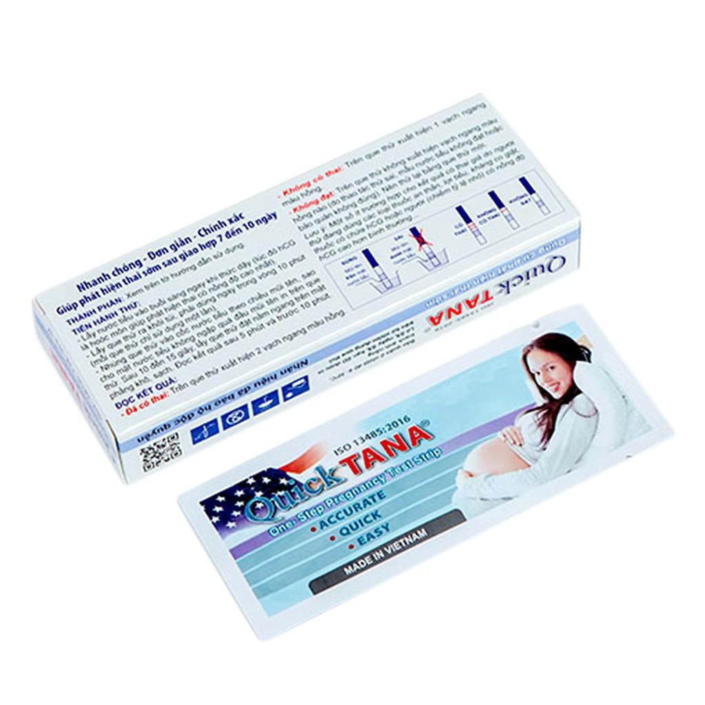 Hộp 12 que thử thai Quicktana 5mm