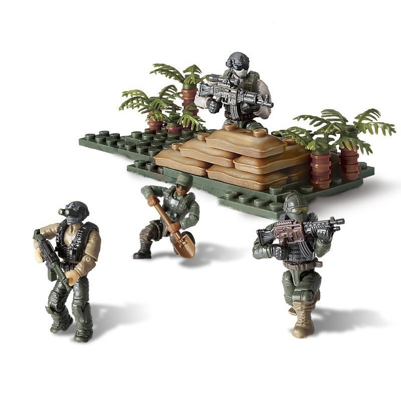 Bộ đồ chơi lắp ráp mô hình lính rừng già nhiệt đới quân sự hiện đại Call of Duty MEGA BLOK – LEGO – COBI